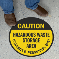 Caution Hazardous Waste Storage Area