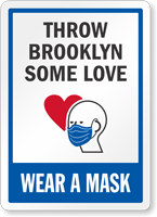 Wear A Mask Add Your Custom Face Covering Message Sign