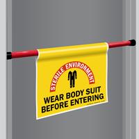 Wear Body Suit Door Barricade Sign