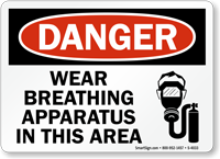 Danger Wear Breathing Apparatus Sign