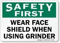 Safety First Wear Face Shield Using Grinder