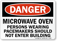 Persons Wearing Pacemakers Should Not Enter Sign