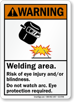 Welding Area Do Not Watch Arc Sign