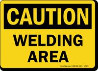 Welding Area Caution Sign