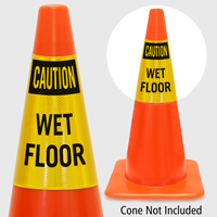 Caution Wet Floor Cone Collar