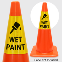 Wet Paint Cone Collar