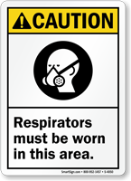 Respirators Must Be Worn This Area Sign