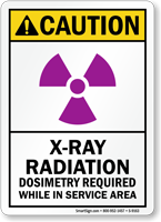 X-Ray Radiation Dosimeters Required Sign