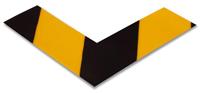 2 in. Solid Black/Yellow Floor Marking Corner