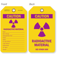 Caution Radioactive Material Radiation Tag