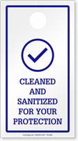 Cleaned and Sanitized For Your Protection Hang Tag