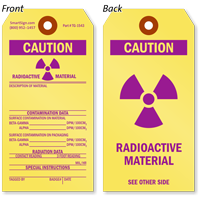 Radioactive Material Caution Safety Tag