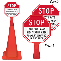Look Both Ways High Traffic Area Sign