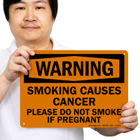 Please Do Not Smoke If Pregnant Warning Sign