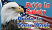 Pride in Safety, Pride in your Work Banner
