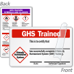 Self Laminating GHS Trained Card (2-Sided)