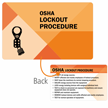 OSHA Lockout Procedure Heavy-Duty Single Safety Wallet Card