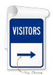 Visitor Information Sign Book with Arrow