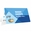Wash Hands The Right Way Fold-over Wallet Card