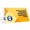 Wear The Right PPE Bi-Fold Safety Wallet Card