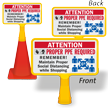 Attention PPE Maintain Social Distance ConeBoss Sign