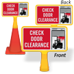 Check Door Clearance ConeBoss Sign