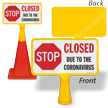 Closed ConeBoss Medical Safety Sign