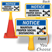 Notice Maintain Social Distancing ConeBoss Sign