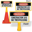 Danger Construction Site ConeBoss Sign