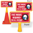 Face Masks Required For All Visitors ConeBoss Sign