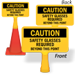 Safety Glasses Required ConeBoss Sign
