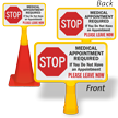 Stop Medical Appointment Required Double-Sided ConeBoss Sign