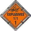 7 Legend Flip-n-Lock™ Explosive Placard Set, Aluminum