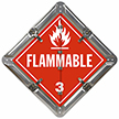 6 Legend Flip-n-Lock™ Industrial Chemical Hauler Placard Set