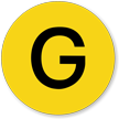 Military Chemical G-Type Nerve Agent Hazard Symbol Label