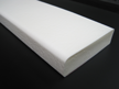S1 Thick Flat Wall Bumper White Non-Glow, Self-Adhesive