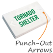 Tornado Shelter LED Exit Sign with Battery Backup