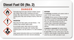 GHS Diesel Fuel Oil (No. 2) Label - Small