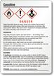 Gasoline GHS Label - Medium