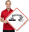 Global Harmonized System Corrosive Hazard Pictogram ISO Sign