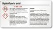 GHS Hydrofluoric Acid Label - Small