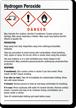 Hydrogen Peroxide GHS Label