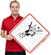 GHS Bomb Exploding Hazard Pictogram ISO Sign