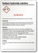 Sodium Hydroxide (Solution) GHS Label - Medium