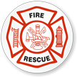 Fire Rescue Hard Hat Stickers