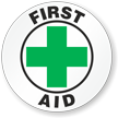 First Aid Hard Hat Stickers