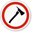 Fire Axe Symbol ISO Circle Sign
