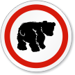 Bear ISO Circle Sign