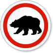 Bear Symbol ISO Circle Sign