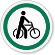 Bicycle Symbol ISO Circle Sign
